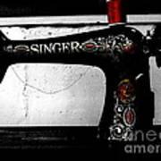 Red Thread Art Print