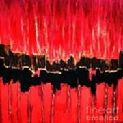 Red Thunder Clash II Art Print