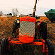 Red Tractor 2 Art Print