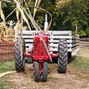 Red Tractor Ready To Roll Art Print