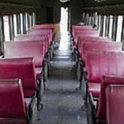 Red Train Seats Art Print