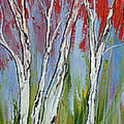 Red Trees Of Autumn Art Print