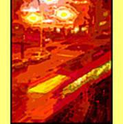 Red Trolley Portland Art Print