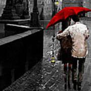 Red Umbrella 2 Art Print