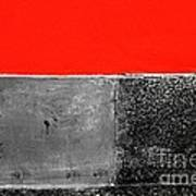 Red Wall In Black And White Art Print