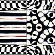 Red White Black Number 1 Art Print