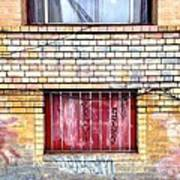Red Window Art Print