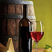 Red Wine Composition Art Print
