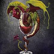 Red Wine Dragon Art Print