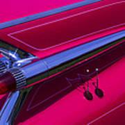 Red1959 Cadillac Art Print