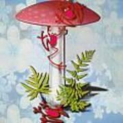 Redfrog And The Magic Mushroom Art Print