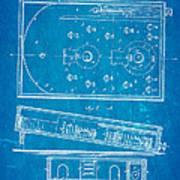 Redgrave Bagatelle Patent Art 1871 Blueprint Art Print