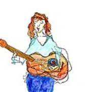 Redhead Player Art Print