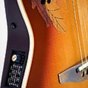 Redish-brown Guitar Art Print