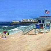 Redondo Beach Lifeguard  Art Print