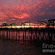 Redondo Beach Pier At Sunset Art Print