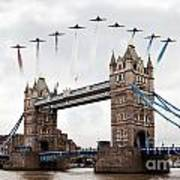 Reds Over Tower Bridge Art Print