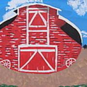 Redwood Farm Barn Art Print