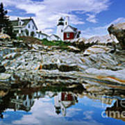 Reflected Lighthouse At Pemaquid Point Art Print