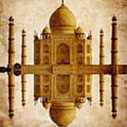 Reflected Taj Mahal Art Print