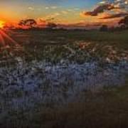 Reflecting On A Duba Plains Sunset Art Print
