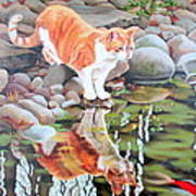 Reflecting Art Print by Sandra Chase