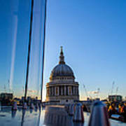 Reflecting St Pauls Art Print by Andrew Lalchan