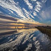 Reflecting Sunset Art Print