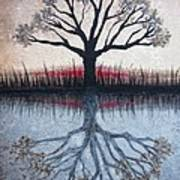 Reflecting Tree Art Print by Janet King