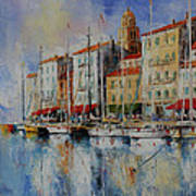 Reflection  -  St.tropez - France Art Print