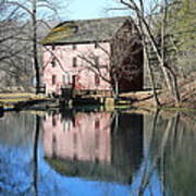 Reflection At The Mill Art Print
