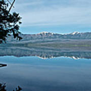 Reflection In Lake Mcdonald In Glacier National Park-montana Art Print