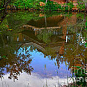 Reflection Of House On Water Art Print