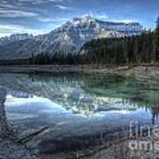 Reflection Of Mount Amery At Graveyard Flats Art Print by Brian Stamm