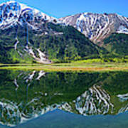 Reflection Of Mountains In Tern Lake Art Print