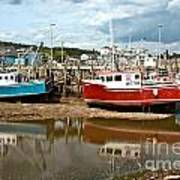 Reflections At Low Tide Art Print