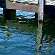 Reflections At The Marina Art Print