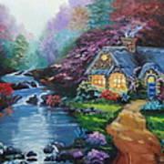 Reflections Cottage Art Print