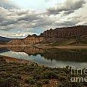Reflections In Blue Mesa Art Print
