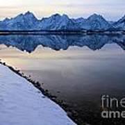 Reflections In Jackson Lake Art Print