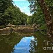 Reflections In Slippery Rock Creek Art Print