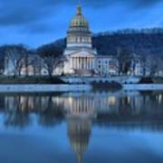 Reflections In The Kanawha River Art Print
