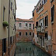 Reflections In Venetian Canal Art Print