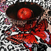 Reflections Of A Red Butterfly Art Print