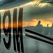 Reflections Of A Sunset Flight Art Print