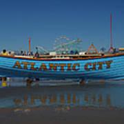 Reflections Of Atlantic City Art Print