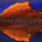 Reflections Of Miner Butte Art Print