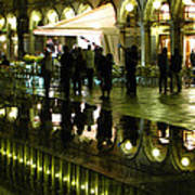 Reflections Of Saint Mark's Square-night Art Print