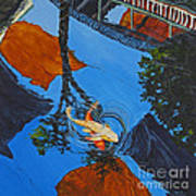 Reflections Of The Wharf Art Print