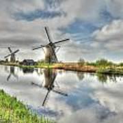 Reflections Of Wndmills Art Print